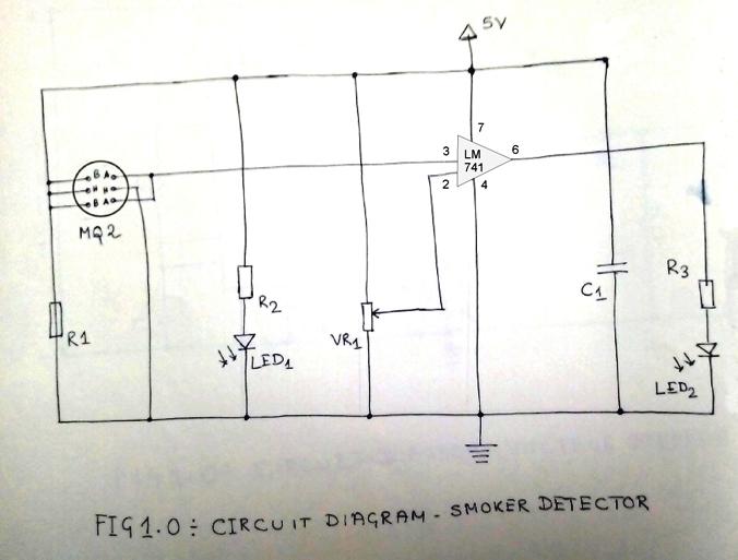 Simple Smoke Detector Circuit | Smoke detector, Circuit ...