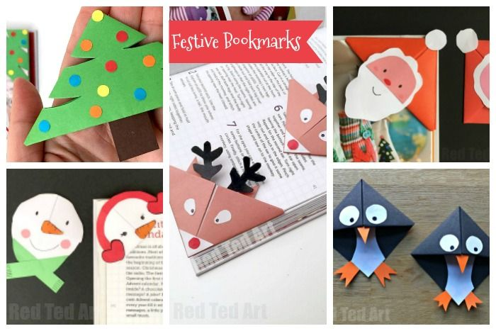 Christmas Paper Crafts for Kids Bookmarks, Diys and Crafty