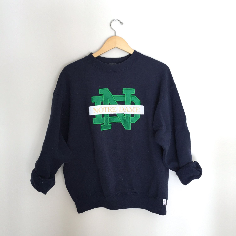 Vintage Notre Dame Crewneck Sweatshirt Size LARGE in 2018 | Wild ...