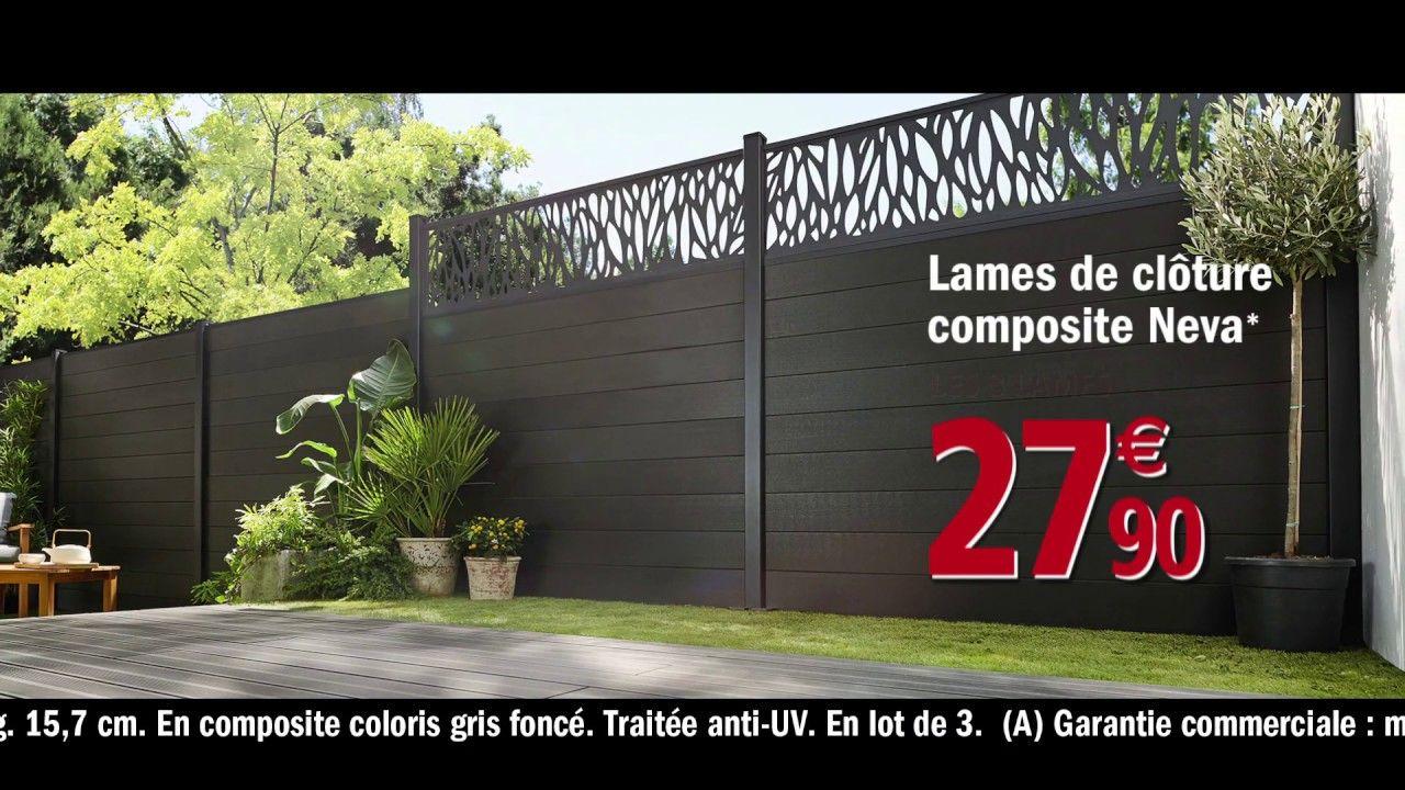 Panneau Jardin Brico Depot En 2020 Panneau Jardin Cloture Composite Jardins