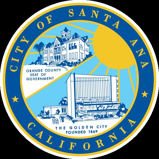 official seal of santa ana california flags and seals of usa rh pinterest com