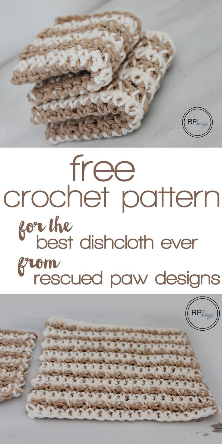 Learn how to make the best dishcloth ever by Rescued Paw | Patrón ...