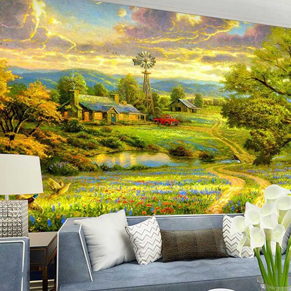 Find More Wallpapers Information about American Style Photo Mural ...