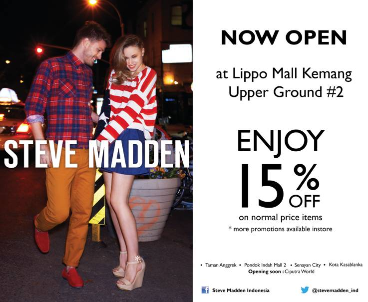 f61ddf61d32 Steve Madden arrives at Lippo Mall Kemang today! To celebrate