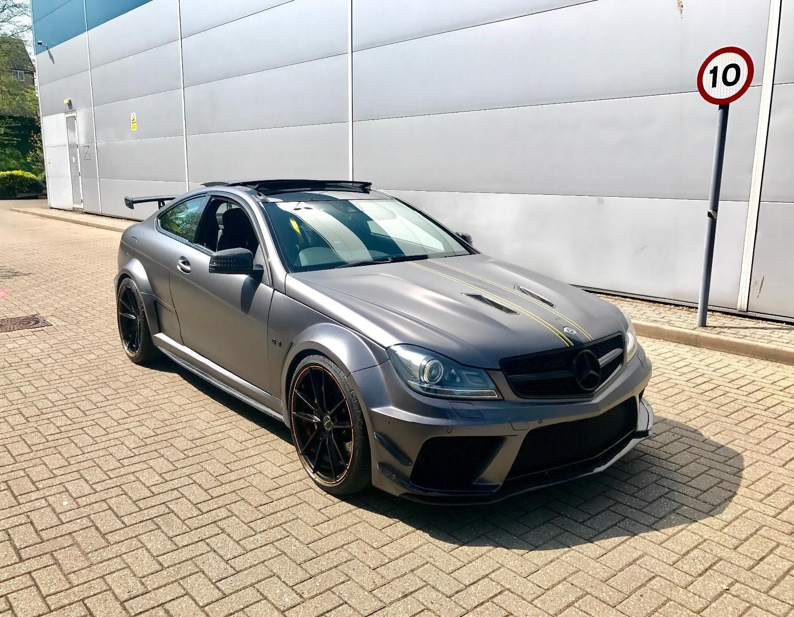 2012 62 Mercedes Benz C63 Amg 6 3 Coupe Black Series Wide