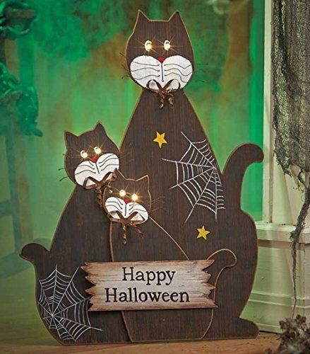 Spooky Creepy and Cool Black Cat Halloween Decor Black cats and Cat - halloween decorations black cat