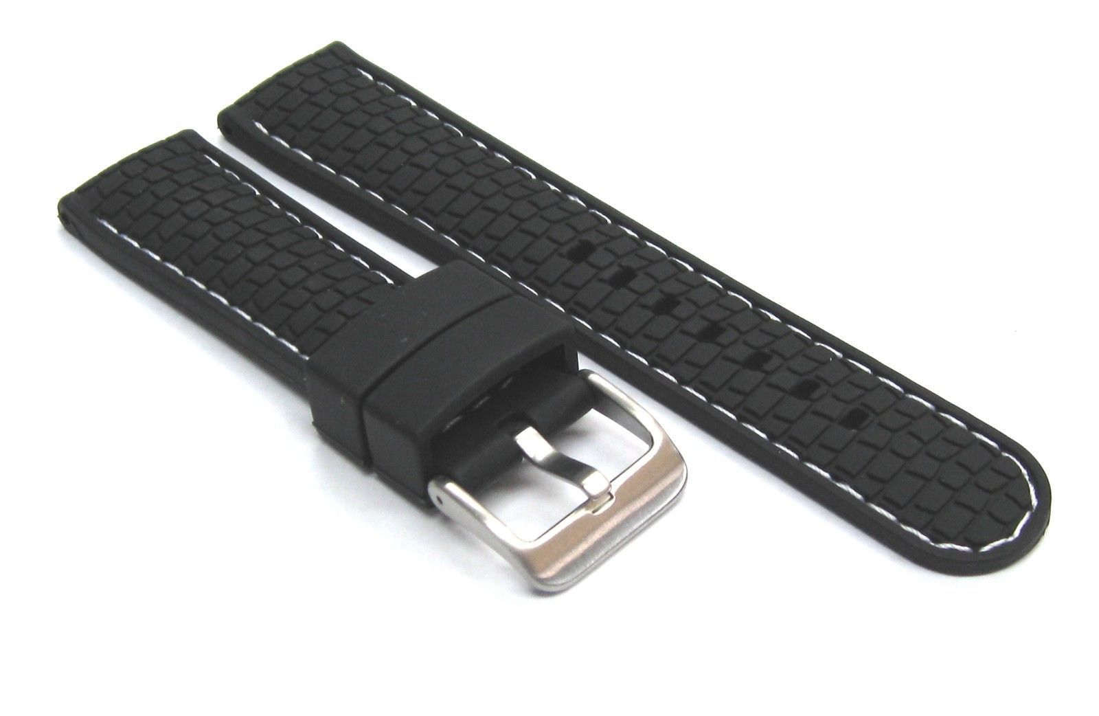 2b4c72ba1ca New 24mm rubber strap band fit longines watch black ws 4r
