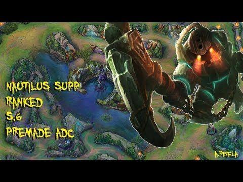 League Of Legends // RANK NAUTILUS SUPP S6 3/0/16 // GAMEPLAY // PREMADE...