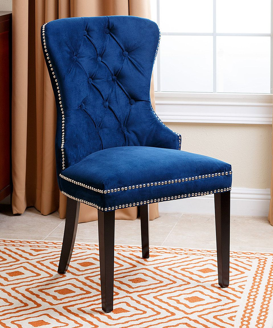 Look what I found on #zulily! Navy Blue Versailles Tufted ...