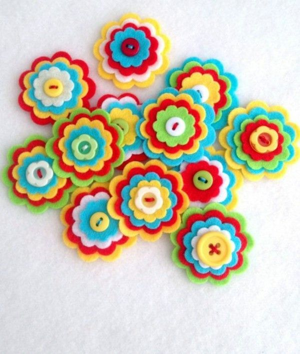 felt flower craft ideas dekoartikel make itself felt flowers creative craft 4456