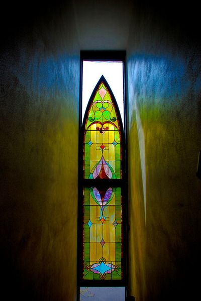 Hidden Staircase and the Stain Glass Window