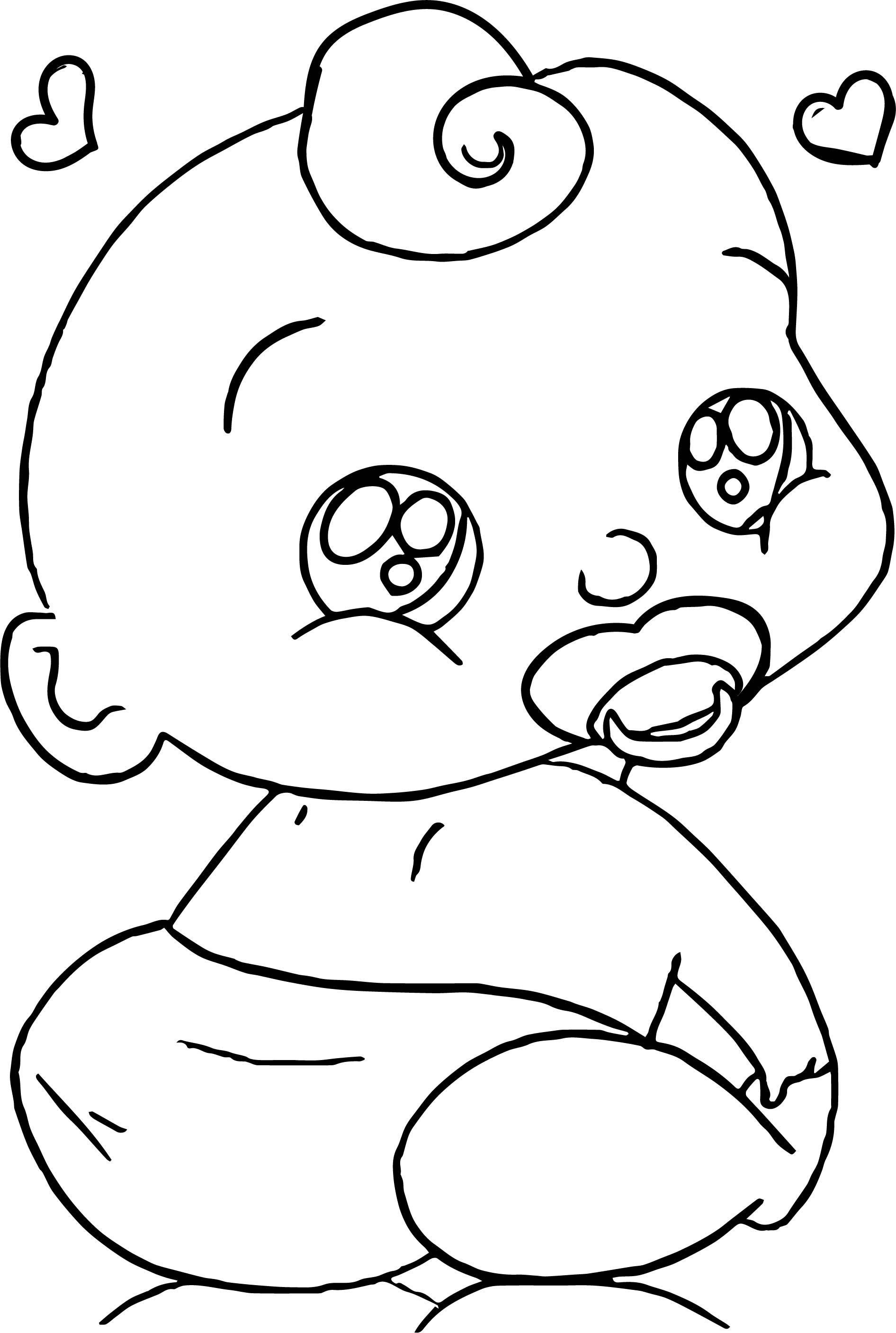 Awesome Baby Boy Cartoon Faces Coloring Page