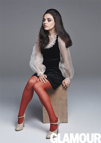 Mila Kunis wearing Wolford Velvet Deluxe 66 Tights in Hawthorn https://api.shopstyle.com/action/apiVisitRetailer?id=518830204&pid=uid7729-3100527-84 and a Gucci dress https://api.shopstyle.com/action/apiVisitRetailer?url=https%3A%2F%2Fwww.gucci.com%2Fus%2Fen%2Fca%2Fwomen-c-women&pid=uid7729-3100527-84. #style #celebstyle