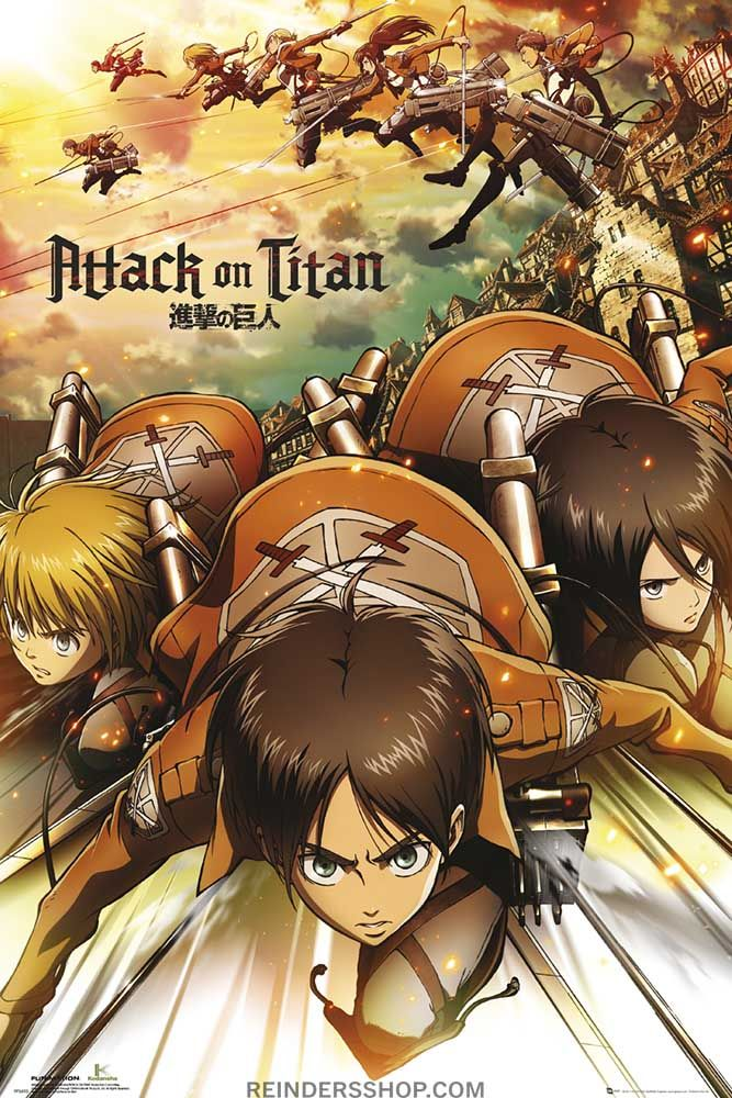 Pin van mega wati op yaaa Attack on titan, Anime, Poster