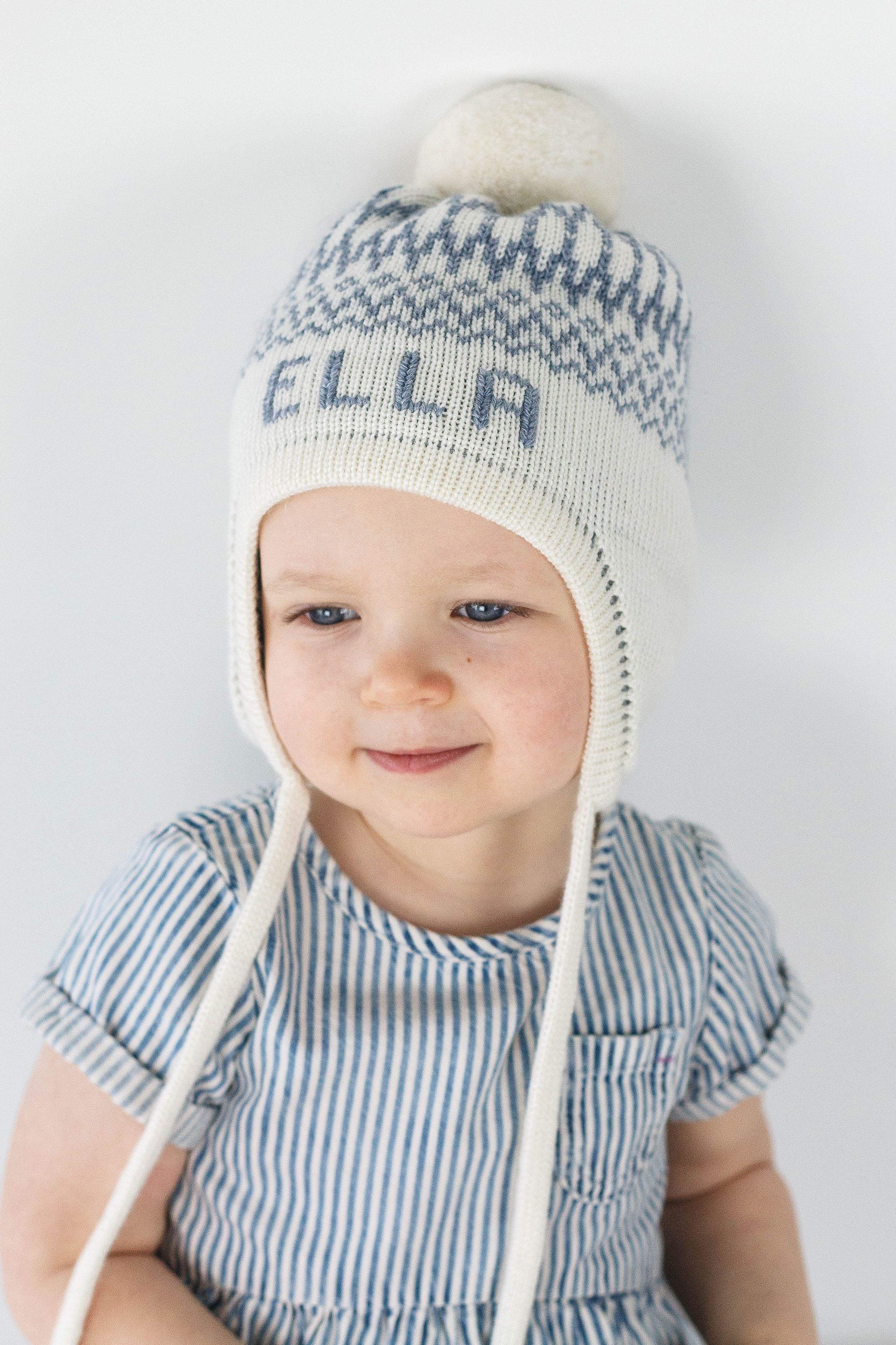 Personalized Ear Flap Knit Hat For Kids With Name Custom Etsy Knit Hats For Kids Knitted Hats Kids Winter Hats