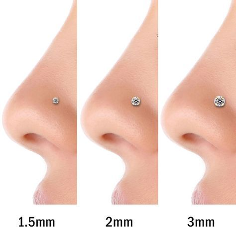 FreshTrends 3mm Cubic Zirconia 14K Rose Gold Nose Ring Twist Screw 20G