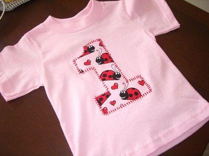 c55cd7d8 lady bug 1st birthday | Infant Toddler Girls First 1st Birthday Pink Red  Ladybug 1 Shirt