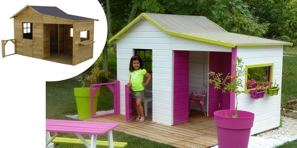 Maisonnette en bois Gaby Playhouses, Playhouse decor and Wooden houses - Maisonnette En Bois Avec Bac A Sable