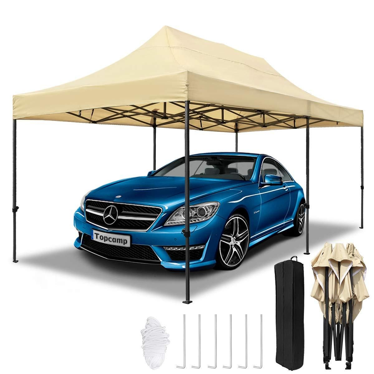 10x20 ft Pop up Canopy Carport, Heavy Duty Waterproof