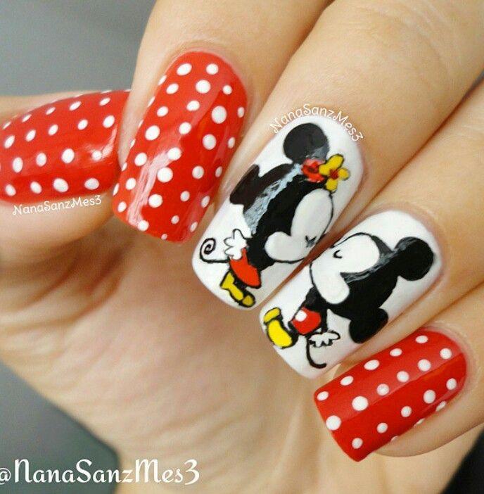 Vistoso Mickey Mouse Arte Uña Del Dedo Friso - Ideas de Diseño de ...