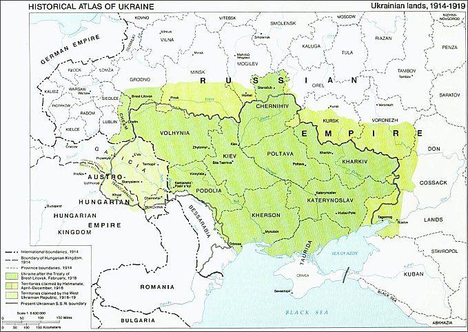 Map 19141919 Ukraine My Heritage Odessa Ukraine South