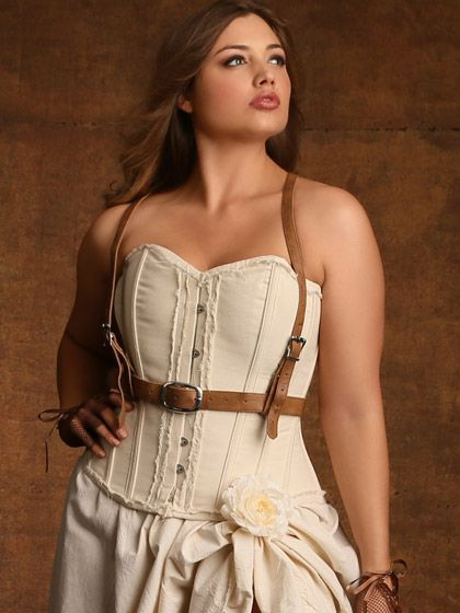steampunk plus size clothing & costumes | leather harness, leather
