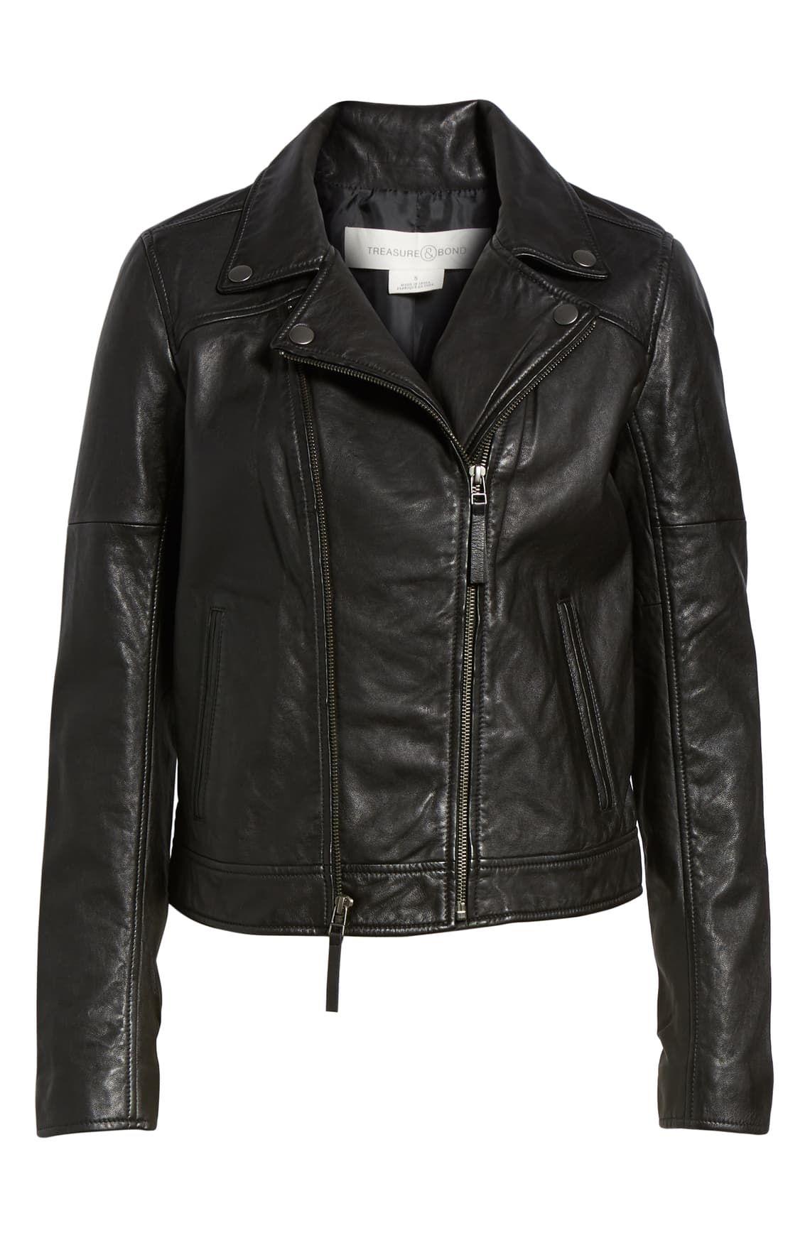 Treasure & Bond Leather Moto Jacket Nordstrom Leather