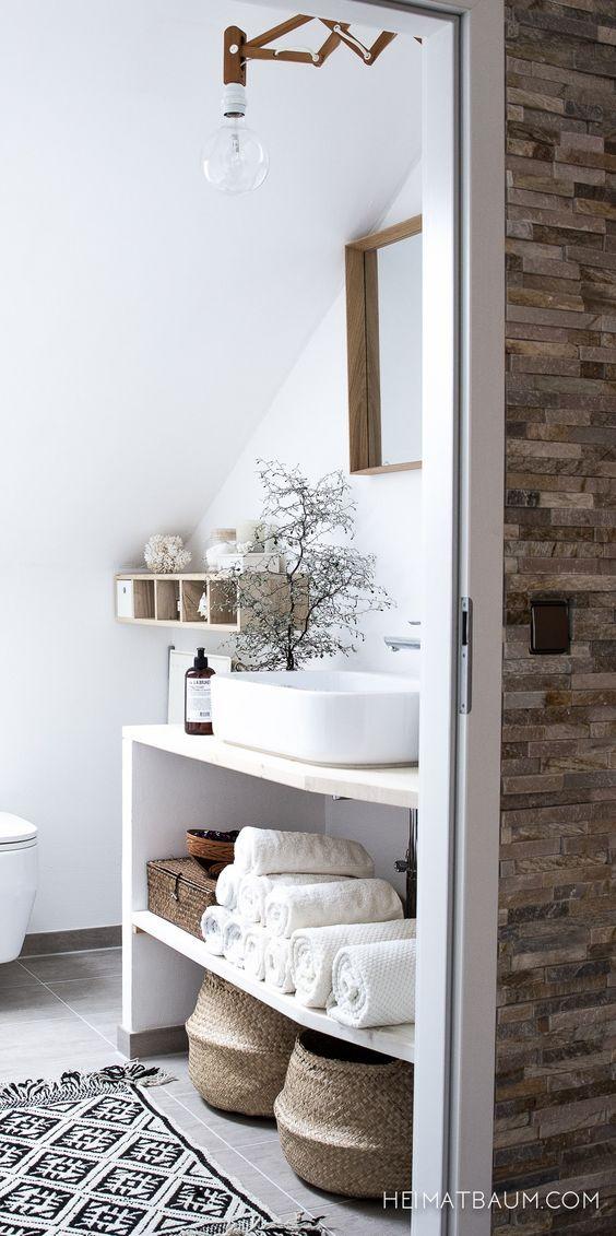 Tipps-fuer-kleine-Badezimmer Renovieren Pinterest - Wc, Badkamer