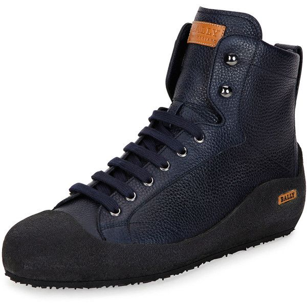 Ellon Black, Mens fur-lined black high top leather Bally