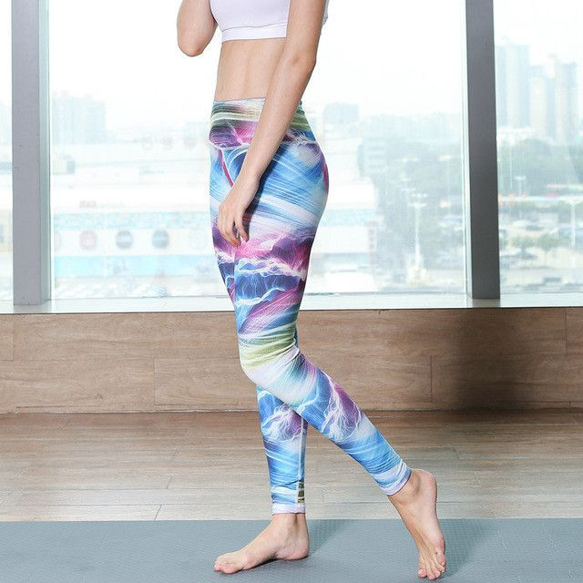 3d57369d78 Yoga Pants Sports 2017 Sexy Tall waist Stretched Gym Clothes Spandex Running  Tights Women Sports Leggings