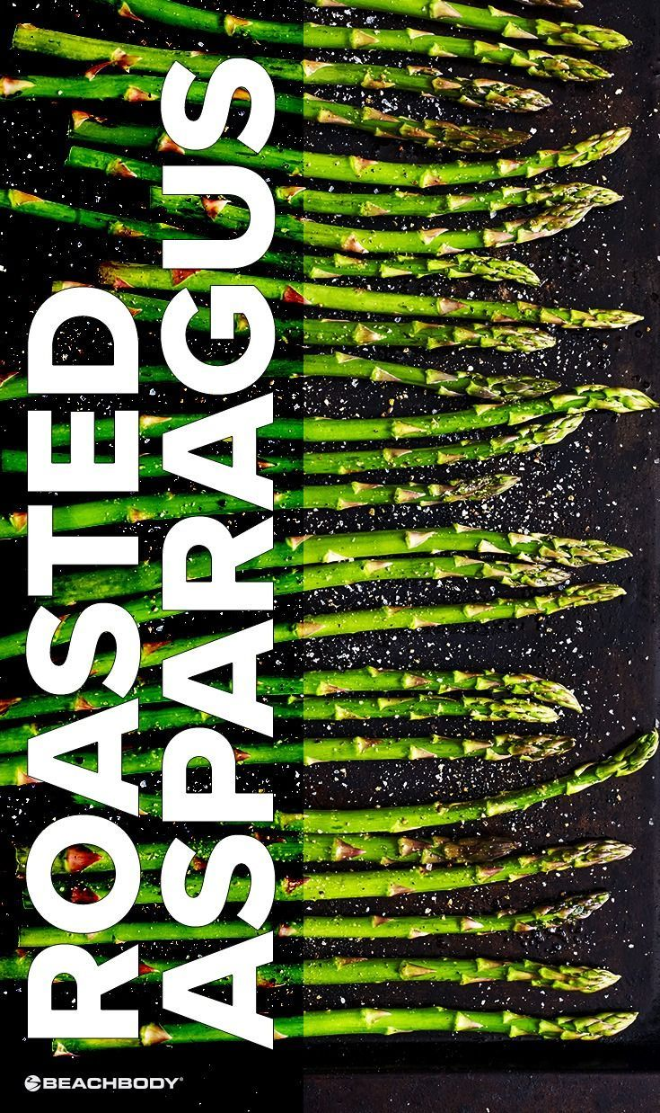 Roasted Asparagus // healthy recipes // quick // simple // vegetarian // vegan // roasting veggies // side dishes // 5 ingredients or less // under 50 calories // lunches // dinners // Beachbody // http://BeachbodyBlog.com