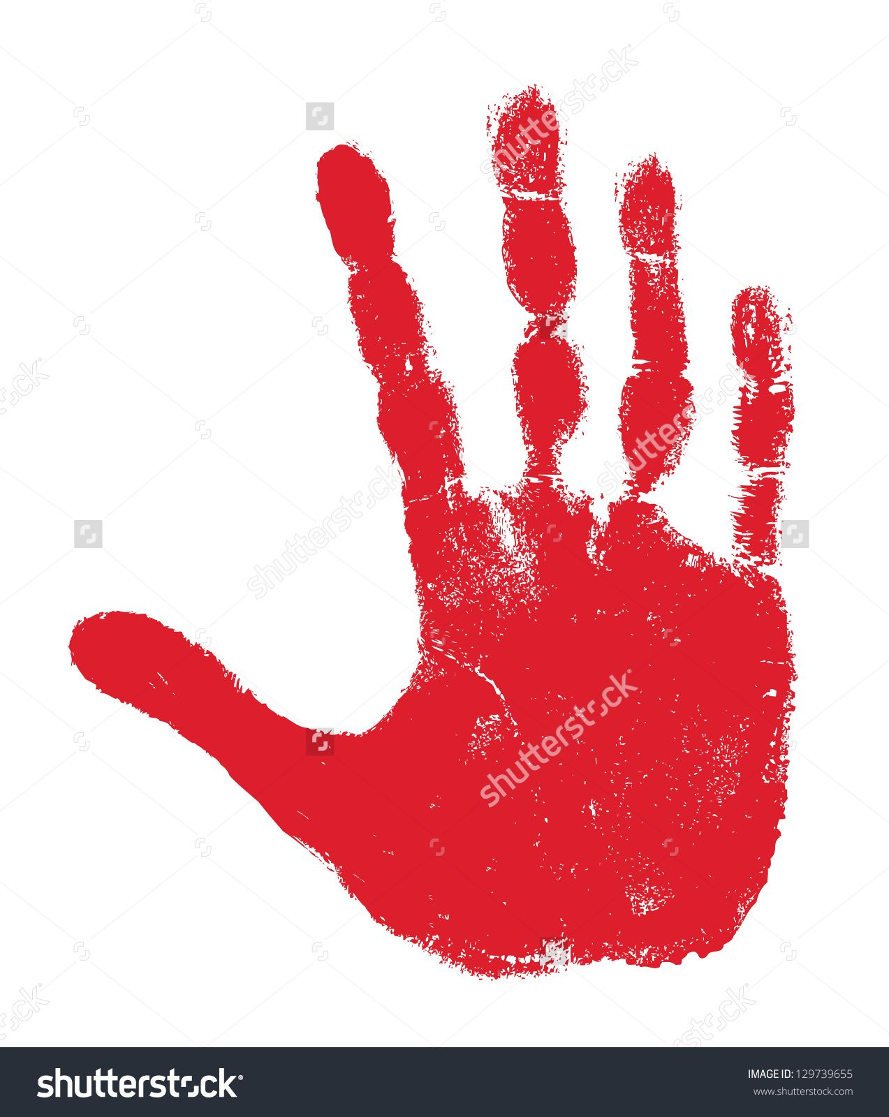 Hand print isolated on white war pony pinterest printing and