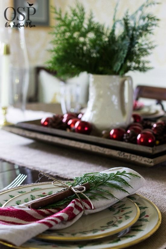 Christmas Table Setting Ideas | Easy, inexpensive inspiration!
