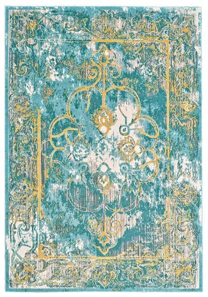 Teal And Yellow Rug Rugs Ideas