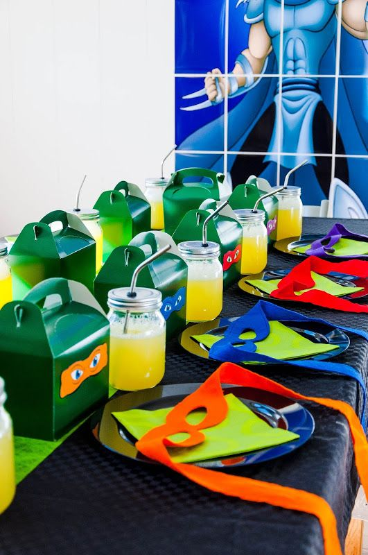 Ninja turtles birthday party table set up & Ninja turtles birthday party table set up | Kids | Pinterest ...