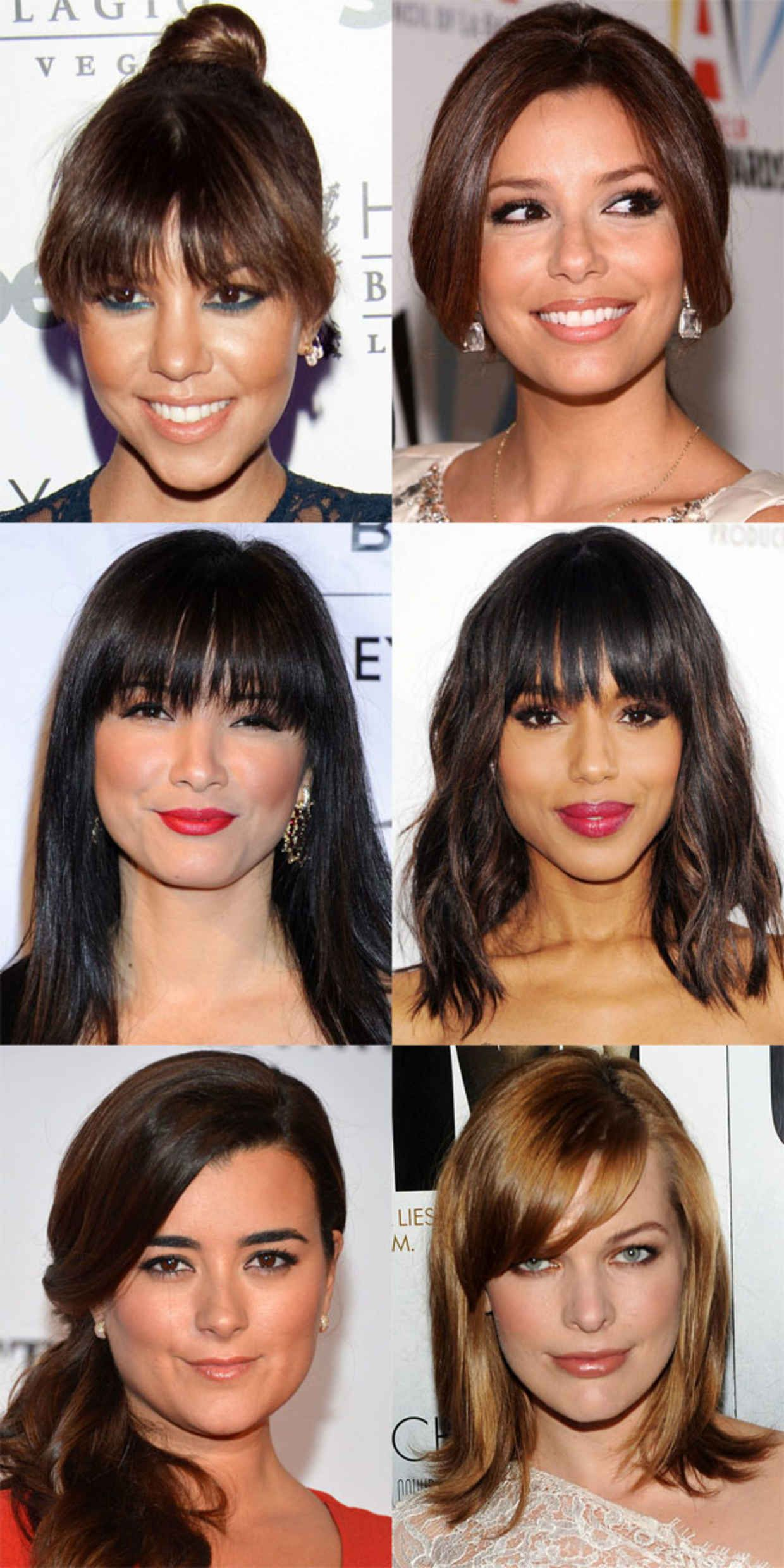 Side Swept Bangs For Heart Shaped Faces