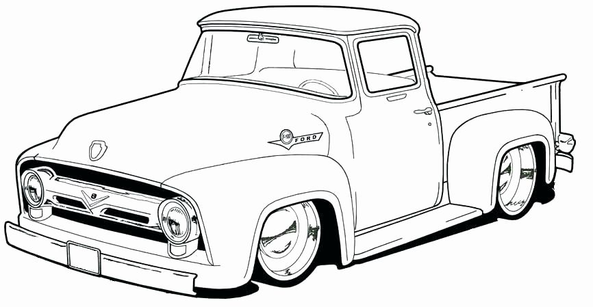 Pick-up Truck Coloring Pages Free Printable Coloring Pages For ... | 449x866