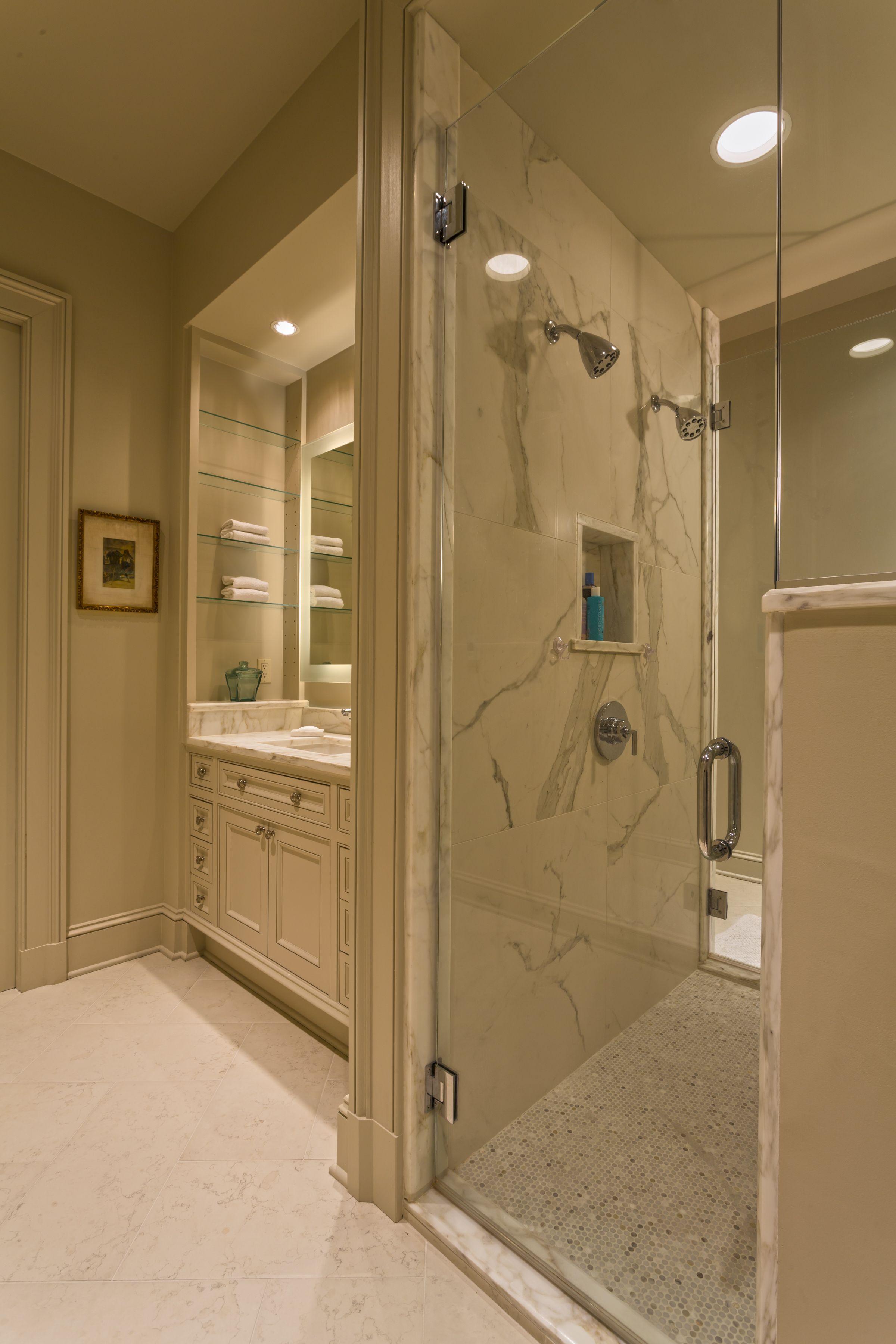 Camp Street Residence Custom Bathroom Glass Shower Doors