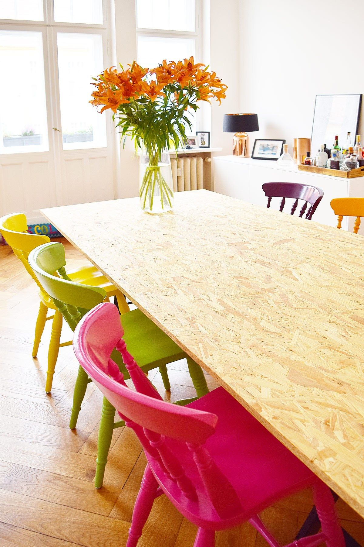 Diy Dining Table For Under 50 Avec Images Table Salle A