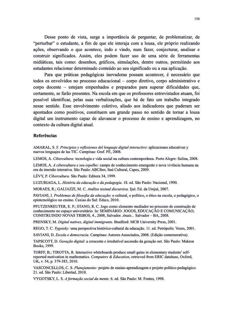 Página 156  Pressione a tecla A para ler o texto da página