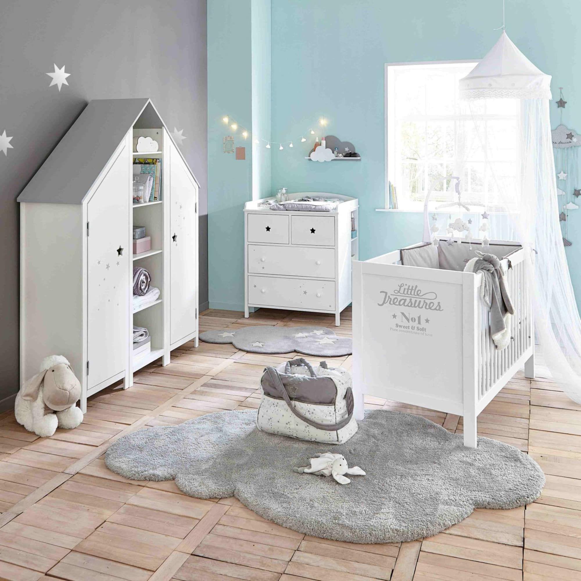 Tapis Chambre Bébé Mixte tapis nuage gris 125x200 en 2020 | déco chambre bébé