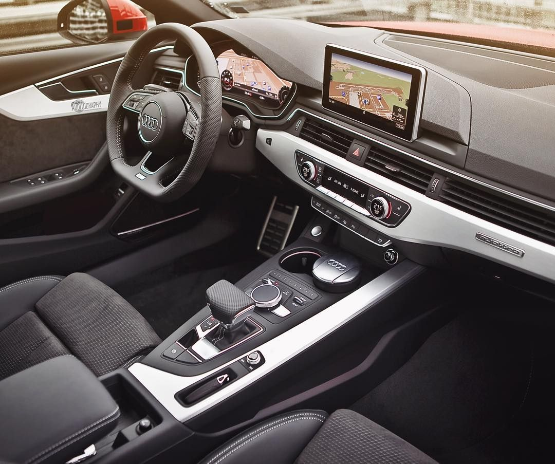 And here comes the lovely new interior of the a4 b9 car 2016 audi a4 2 0tfsi quattro s line 252hp 4 cylinder color tango red metallic performance