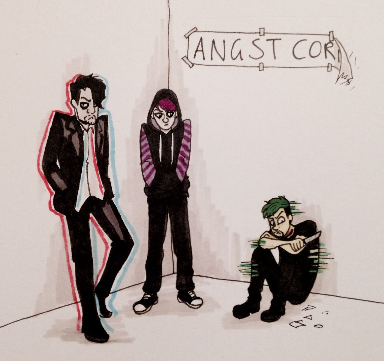 """Sketch 329: """"Some egos just need some time out in the angst corner"""