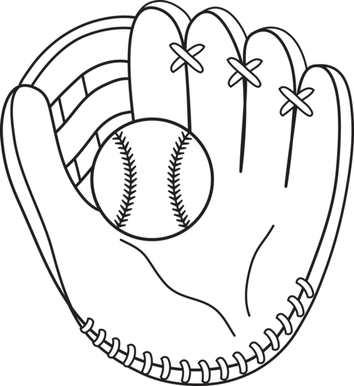 Colorable Baseball And Mitt Free Clip Art Baseball Coloring Pages Sports Coloring Pages Bat Coloring Pages