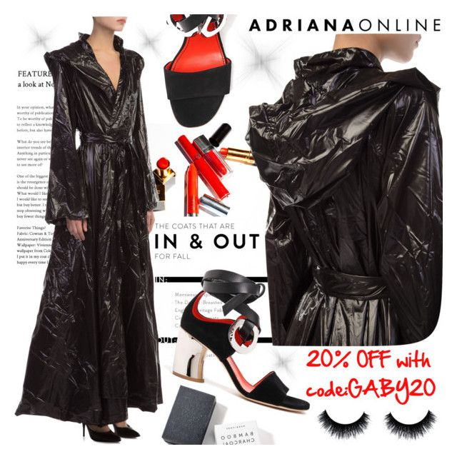 """""""ADRIANA ONLINE: Opera Coat"""" by gaby-mil ❤ liked on Polyvore featuring Herbivore"""