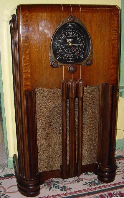 Zenith 6 S 254 Console Radio 1938 Antique Radio Old Radios Vintage Radio