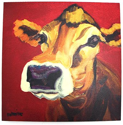 Square Cow Canvas Wall Art at Maverick Western Wear | For The Home ...