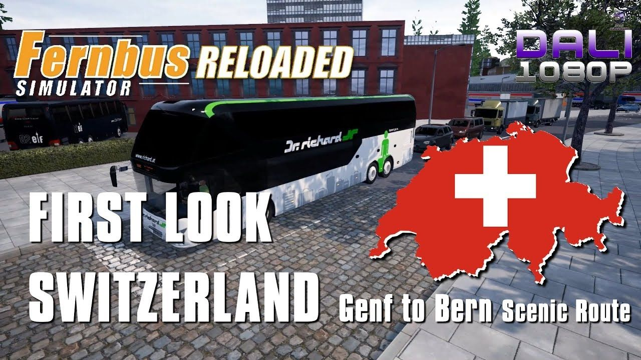 3a0249cb151 Fernbus Simulator FIRST LOOK AT SWITZERLAND Genf to Bern - Taking the  scenic route. #