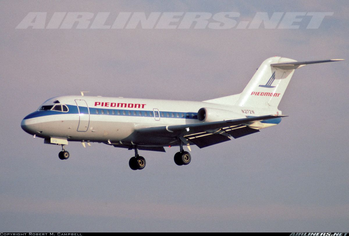 Piedmont Airlines, Fokker F-28-1000 Fellowship aircraft picture