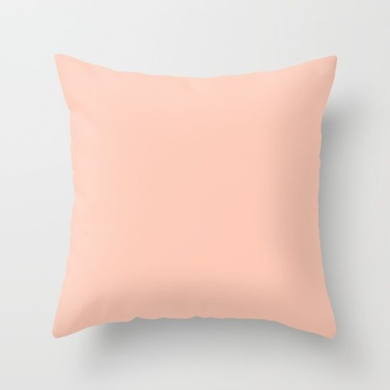 Peach C Light Orange Apricot Solid Color Plain Throw Pillow Cushion